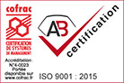 Certification ISO 9001 2015