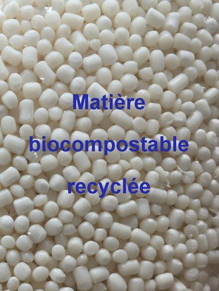 Matiere recyclee biocompostable