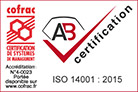 Certification ISO 14001 en 2015